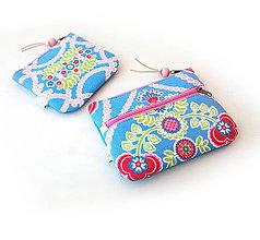 Taštičky - Dvojica taštičiek Ornamenty z kvetov (s koženkou) - 10984476_