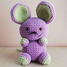 Hračky - Tučná myška Karmela - 10984965_