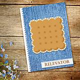Papiernictvo - Džínsový denník sladký (keks) - 10984274_