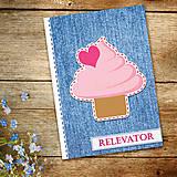 Papiernictvo - Džínsový denník sladký - 10984281_