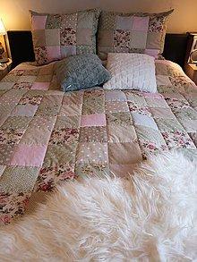 Úžitkový textil - Patchwork súprava Romantic from England - 10987625_