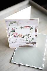 Papiernictvo - Narodeniny alebo svadba / scrapbook pohľadnica - 10986144_