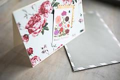Papiernictvo - Kvetinová pohľadnica k narodeninám - 10986162_
