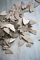 Papiernictvo - Prírodné konfety - 100ks (výzdoba) - 10986173_
