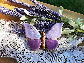 Dekorácie - Motýľ - 10987283_