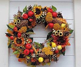 Dekorácie - Jesenný veniec - 10986738_