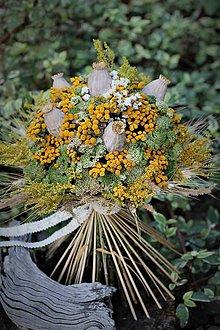 Dekorácie - Veľká sušená kytica, celoročná - 10987552_