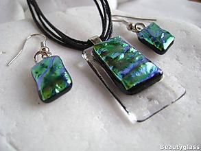 Sady šperkov - Zelenomodré vlnky - 10987483_