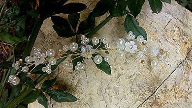 Náramky - ivory náramok pre nevestu - bielo zlatý - 10987403_