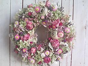 """Dekorácie - Prírodný veniec na dvere """"... keď slniečko šťastne žiari ..."""" - 10987576_"""