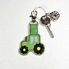 Kľúčenky - prívesok traktor (Zelený) - 10985928_