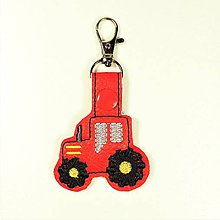Kľúčenky - prívesok traktor (Červený) - 10985929_