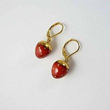 Náušnice - Tana šperky - keramika/zlato, jahôdky :) - 10986267_