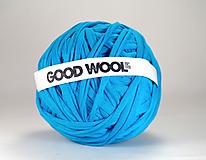 Materiál ručne robený - Tričkovlna AJ NA RÚŠKA... Modrá tyrkysová (bambus) - 10987180_