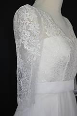 Šaty - Svadobné šaty z vyšívanej krajky a s veľkou kruhovou sukňou - 10986733_