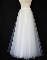 Sukne - Svadobná kvalitná tylová sukňa - 10986759_