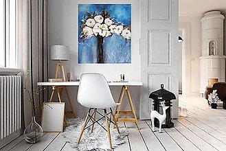 Obrazy - Kvety v modrom. - 10986692_