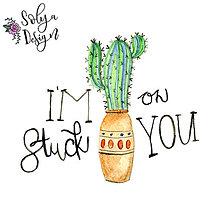 Grafika - I'm stuck on you - akvarelový maľovaný obrázok - 10986583_