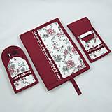 Úžitkový textil - Pre knihomoľov - peračník - romantický bordo - 10986089_