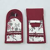Úžitkový textil - Pre knihomoľov - peračník - romantický bordo - 10986090_