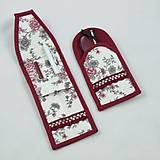 Úžitkový textil - Pre knihomoľov - peračník - romantický bordo - 10986091_