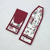 Úžitkový textil - Pre knihomoľov - peračník - romantický bordo - 10986094_