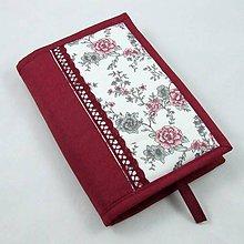 Úžitkový textil - Pre knihomoľov - romantický bordo L - 10986017_
