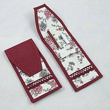 Úžitkový textil - Pre knihomoľov - peračník - romantický bordo - 10986088_