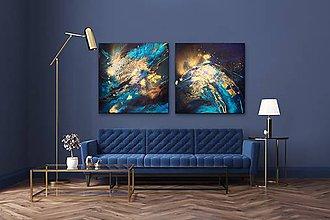 Grafika - Night ocean /art print•umelecká reprodukcia/ - 10987060_