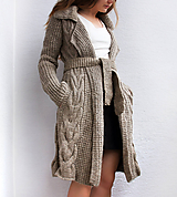 Kabáty - Jesenný dámsky kabat - 100% Vlna - 10986801_