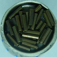 Iný materiál - Korálky plastové bronzové rúričky 11mm x 3mm - 10987047_