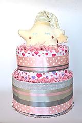 Detské doplnky - Plienková torta Hviezda - 10986309_
