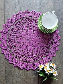 Úžitkový textil - Obrúsok - dečka /ružová/ - 10986095_