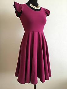 Šaty - Šaty Daniela s kruhovou sukňou a volánovým rukávom - 10987288_