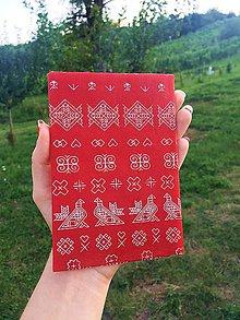 Úžitkový textil - Voskovaný obrúsok EkObal - Červený folklór - 10988044_