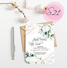 Papiernictvo - svadobné oznámenie S21 - 10987699_