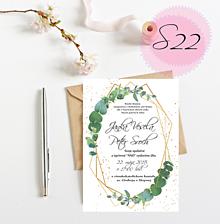 Papiernictvo - svadobné oznámenie S22 - 10987886_