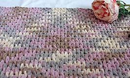 Jemnučká a ľahká detská deka  (deka color mix staroružová, béžová, hnedá, šedohnedá)