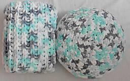 Jemnučká a ľahká detská deka  (deka color mix biela, tyrkysová, šedá)