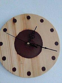 Hodiny - hodiny smrek a kávovo metalická živice - 10986386_