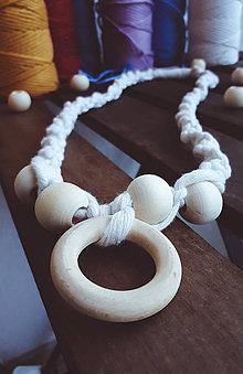 Hračky - Kojo náhrdelník macrame - 10987525_