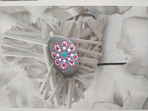 Dekorácie - Mandalový kamienok - nevinnosť - 10986349_