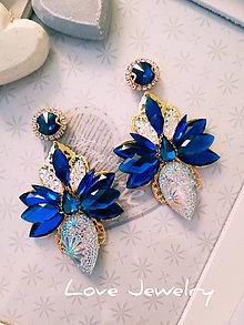 Náušnice - Tyrkysové náušnice Motýlik (Modrá) - 10986861_