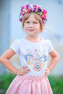 Detské oblečenie - Dievčenské tričko - 10987138_