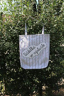 Nákupné tašky - Bavlnená taška pre bývalú učiteľku - 10987373_