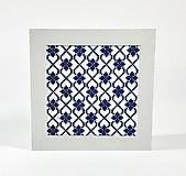 Papiernictvo - Myšlienky gentemana - radostná - folk vyšívaný pozdrav - 10987041_