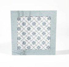 Papiernictvo - Myšlienky gentlemana - zimná - folk vyšívaný pozdrav - 10987081_