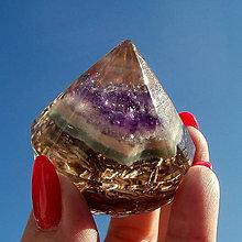 Dekorácie - ORGONIT - Diamant, *Ametyst* 1 - 10990749_