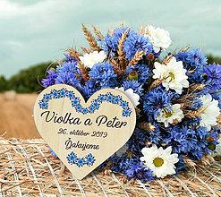 Darčeky pre svadobčanov - Svadobná magnetka - 10990026_