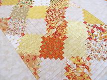 """Úžitkový textil - Obrus - štóla """"Žlté zruby"""" - 10990137_"""